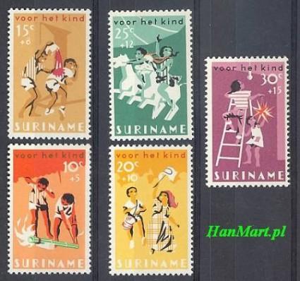 Znaczek Surinam 1966 Mi 507-511 Czyste **