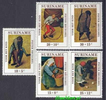 Znaczek Surinam 1971 Mi 608-612 Czyste **
