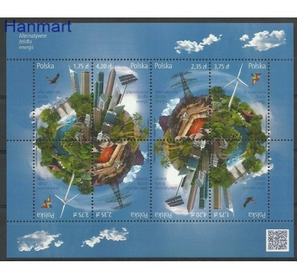 Znaczek Polska 2014 Mi ark 4707-4710 Fi ark 4557-4560 Czyste **