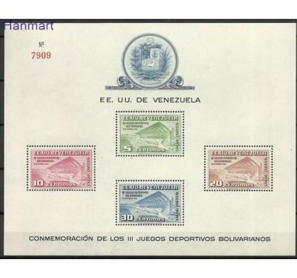 Znaczek Wenezuela 1951 Mi bl 3 Czyste **