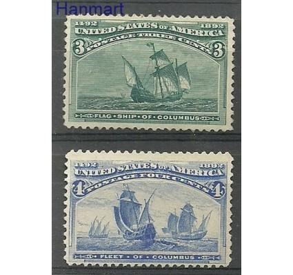 Znaczek USA 1893 Mi 75-76 Czyste **