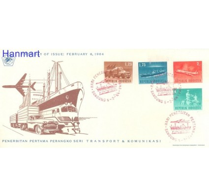 Znaczek Indonezja 1964 Mi 435-438 FDC