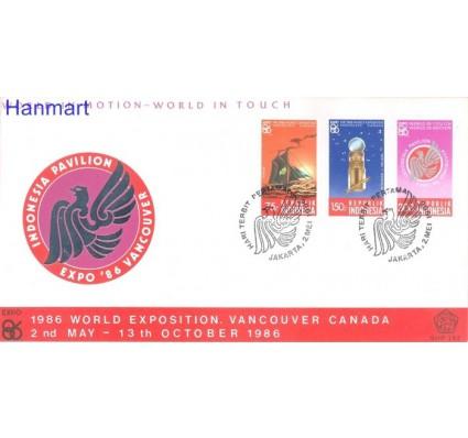 Znaczek Indonezja 1986 Mi 1198-1200 FDC