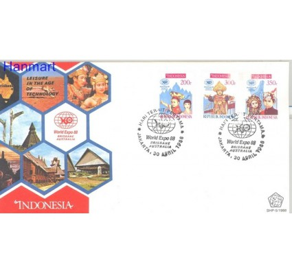 Znaczek Indonezja 1988 Mi 1254-1256 FDC
