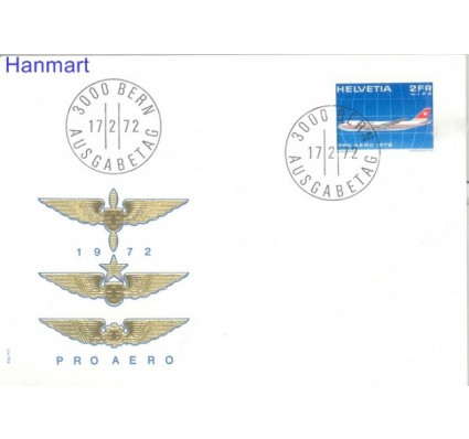 Znaczek Szwajcaria 1972 Mi 968 FDC