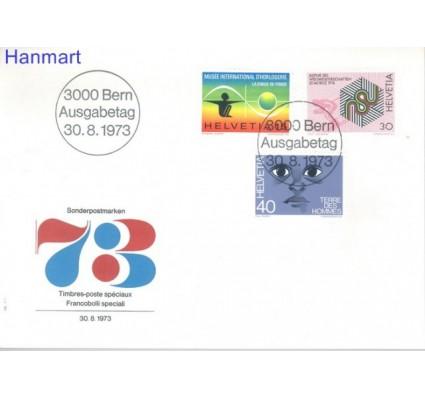 Znaczek Szwajcaria 1973 Mi 1000-1002 FDC