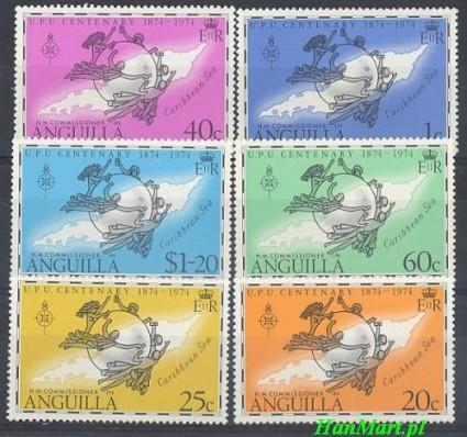 Znaczek Anguilla 1974 Mi 198-203 Czyste **