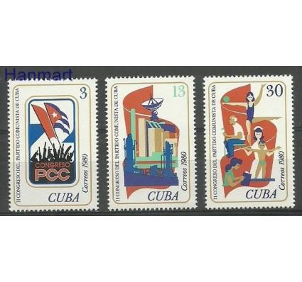 Znaczek Kuba 1980 Mi 2525-2527 Czyste **