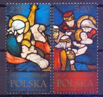 Znaczek Polska 2014 Mi 4744-4745 Fi 4594-4595 Czyste **