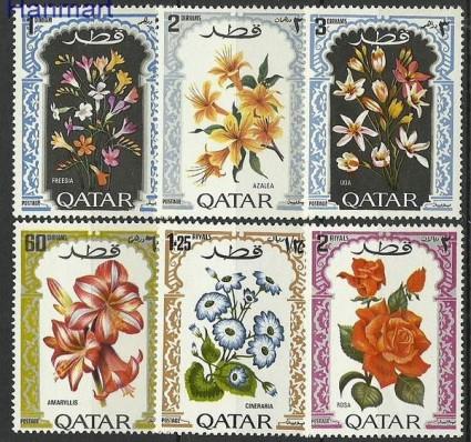 Znaczek Katar 1970 Mi 421-426 Czyste **
