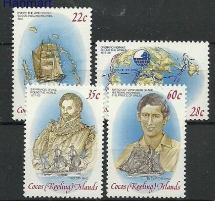 Znaczek Wyspy Kokosowe / Keelinga 1980 Mi 61-64 Czyste **