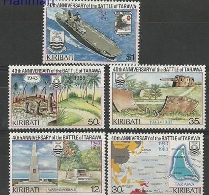 Znaczek Kiribati 1983 Mi 430-434 Czyste **