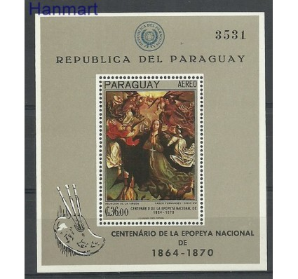 Znaczek Paragwaj 1967 Mi bl 99 Czyste **