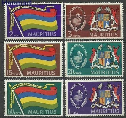 Znaczek Mauritius 1968 Mi 313-318 Czyste **
