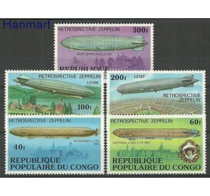 Znaczek Kongo 1977 Mi 577-581 Czyste **