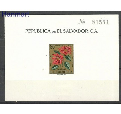 Znaczek Salwador 1960 Mi bl 7 Z podlepką *