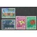 Zambia 1965 Mi 22-25 Czyste **