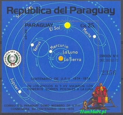 Znaczek Paragwaj 1974 Mi bl 219 Czyste **