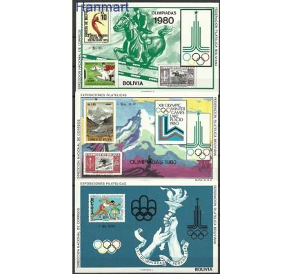 Znaczek Boliwia 1979 Mi bl 87-89 Czyste **