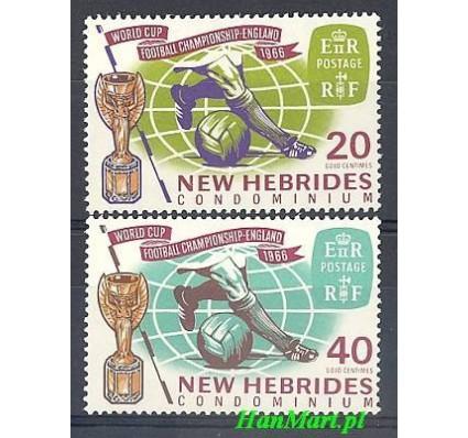 Znaczek Nowe Hebrydy 1966 Mi 232-233 Czyste **