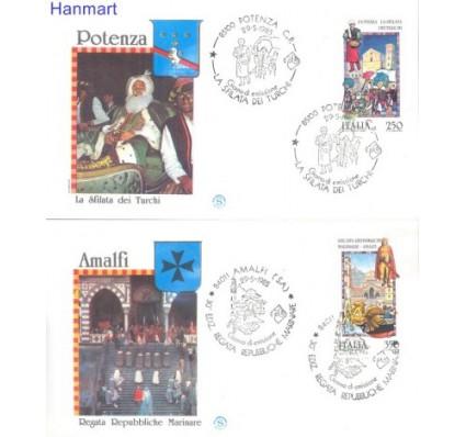 Znaczek Włochy 1985 Mi 1920-1921 FDC
