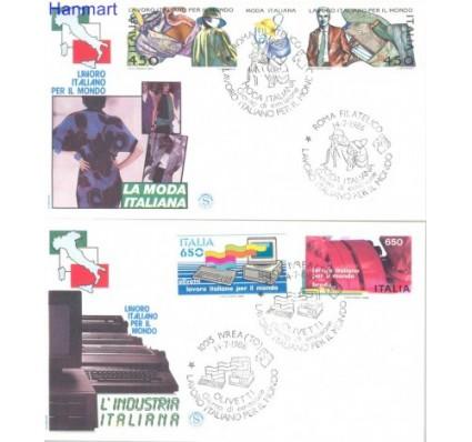 Znaczek Włochy 1986 Mi 1984-1987 FDC
