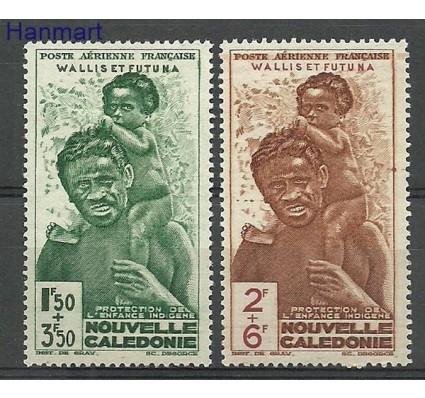 Znaczek Nowa Kaledonia 1942 Mi 135-136 Z podlepką *