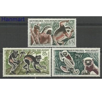 Znaczek Madagaskar 1961 Mi 470-472 Z podlepką *