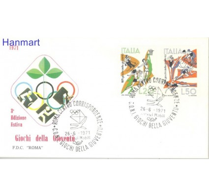 Znaczek Włochy 1971 Mi 1341-1342 FDC