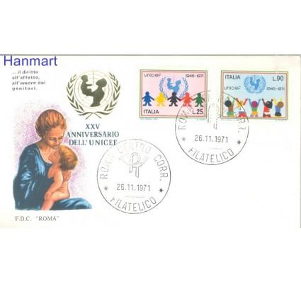 Znaczek Włochy 1971 Mi 1351-1352 FDC