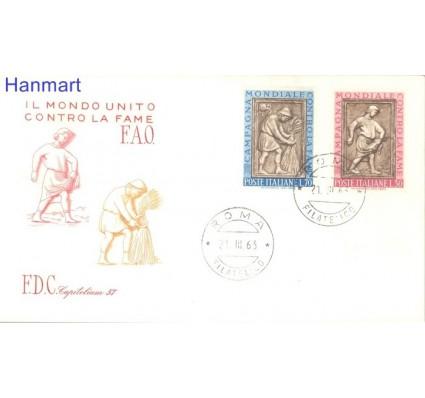 Znaczek Włochy 1963 Mi 1140-1141 FDC