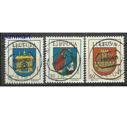 Znaczek Litwa 1993 Mi 526-528 Stemplowane