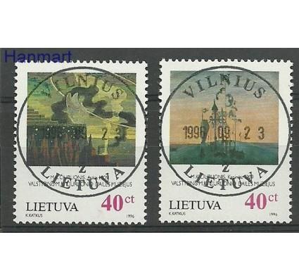 Znaczek Litwa 1996 Mi 617-618 Stemplowane