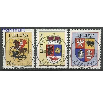 Znaczek Litwa 1999 Mi 709-711 Stemplowane