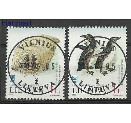 Znaczek Litwa 2000 Mi 733-734 Stemplowane