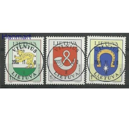 Znaczek Litwa 2000 Mi 739-741 Stemplowane