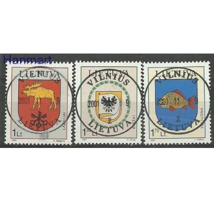 Znaczek Litwa 2001 Mi 774-776 Stemplowane