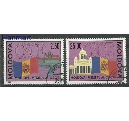 Znaczek Mołdawia 1992 Mi 41-42 Stemplowane