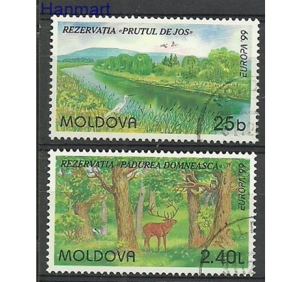 Znaczek Mołdawia 1999 Mi 305-306 Stemplowane