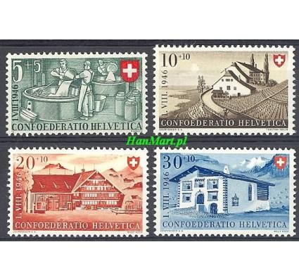 Znaczek Szwajcaria 1946 Mi 471-474 Czyste **