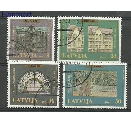 Znaczek Łotwa 1996 Mi 440-443 Stemplowane
