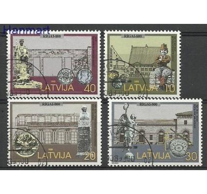 Znaczek Łotwa 1998 Mi 481-484 Stemplowane