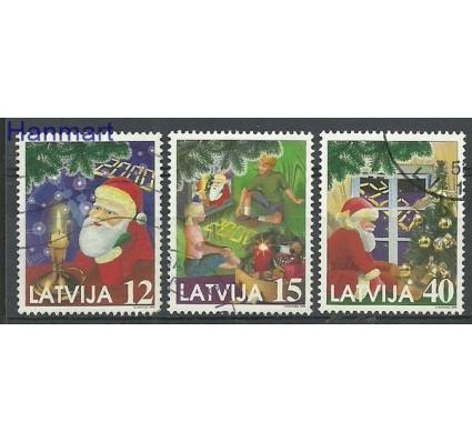 Znaczek Łotwa 1999 Mi 514-516 Stemplowane