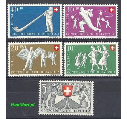 Znaczek Szwajcaria 1951 Mi 555-559 Czyste **