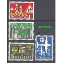 Szwajcaria 1956 Mi 623-626 Czyste **
