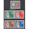 Szwajcaria 1957 Mi 641-645 Czyste **