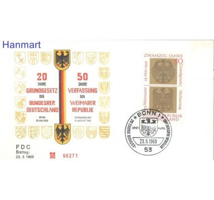 Znaczek Niemcy 1969 FDC