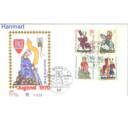 Znaczek Niemcy 1970 FDC