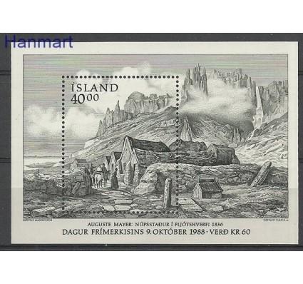 Znaczek Islandia 1988 Mi bl 9 Czyste **
