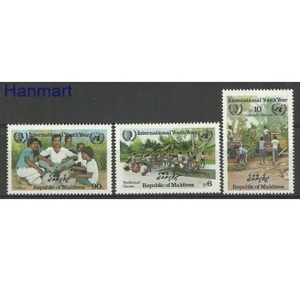 Znaczek Malediwy 1985 Mi 1138-1140 Czyste **